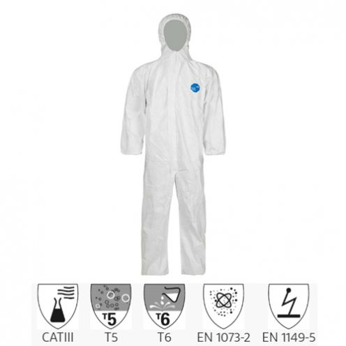 Quần áo chống hóa chất Dupont Tyvek 400
