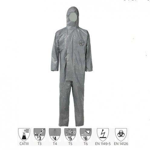 Quần áo chống hóa chất Dupont Tychem 6000